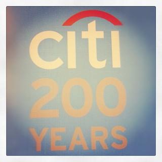 Citi 200 years. 200 years of CitiBank.