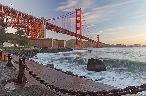 Golden Gate Bridge: Evening at Fort Point