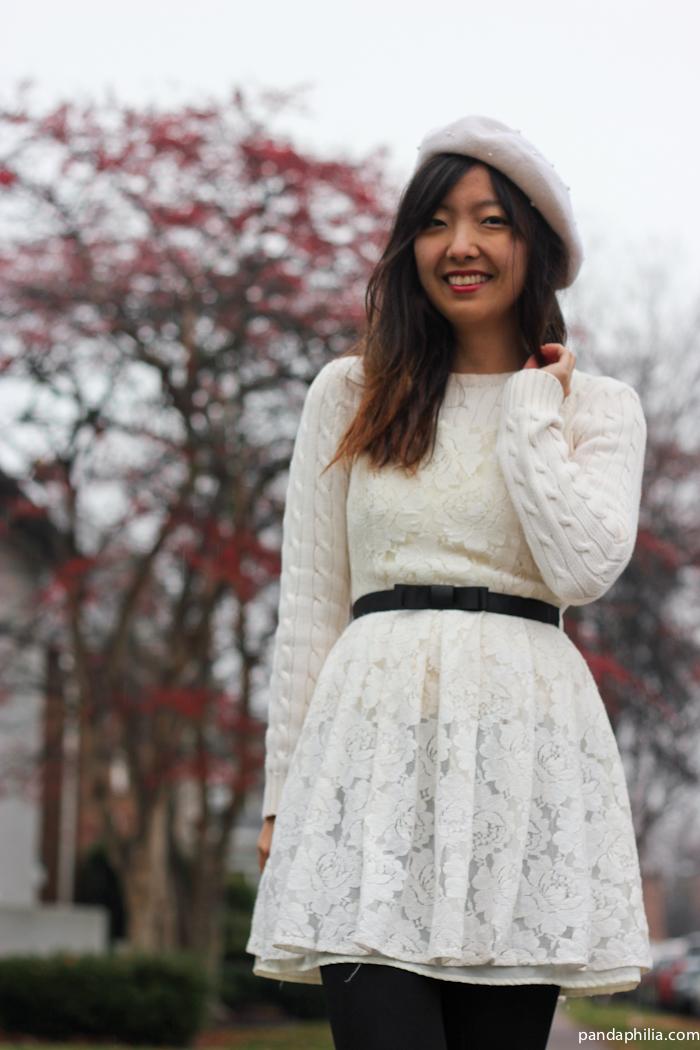 white parisian outfit
