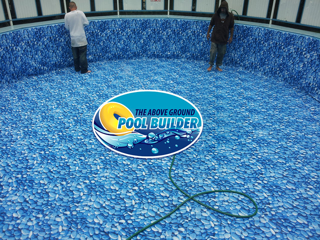 Ambassador pool liner replacement flickr photo sharing for Installing pool liner in cold weather