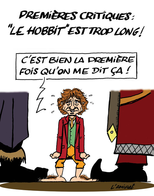 """DESSIN. """"The Hobbit"""" de Peter Jackson : Pâques au Mordor, Noël au..."""