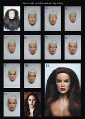 How to Make Up Barbie Doll in Bella Swan Looks Step by Step.