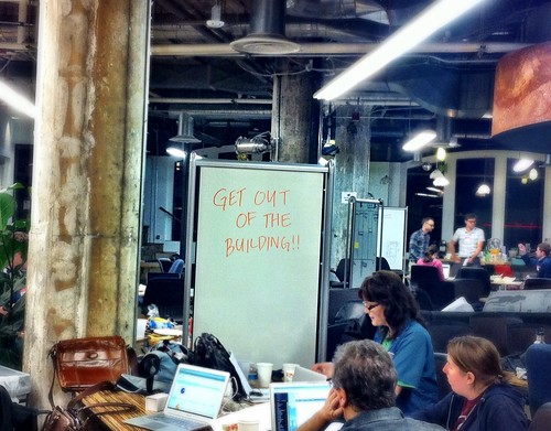 Get out of the building #swbay