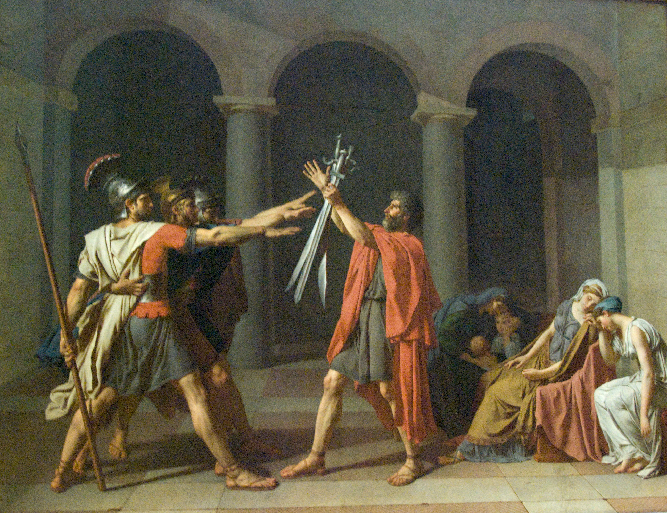 David - Oath of the Horatii | Flickr - Photo Sharing! Oath Of The Horatii