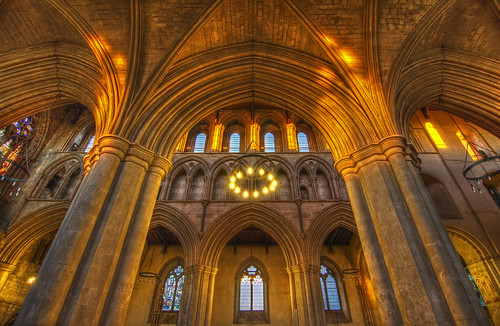 church abbey architecture gold golden nikon arch cathedral hdr hertfordshire stalbans stalbansabbey photomatix stalbanscathedral tokina1116 nikond7000