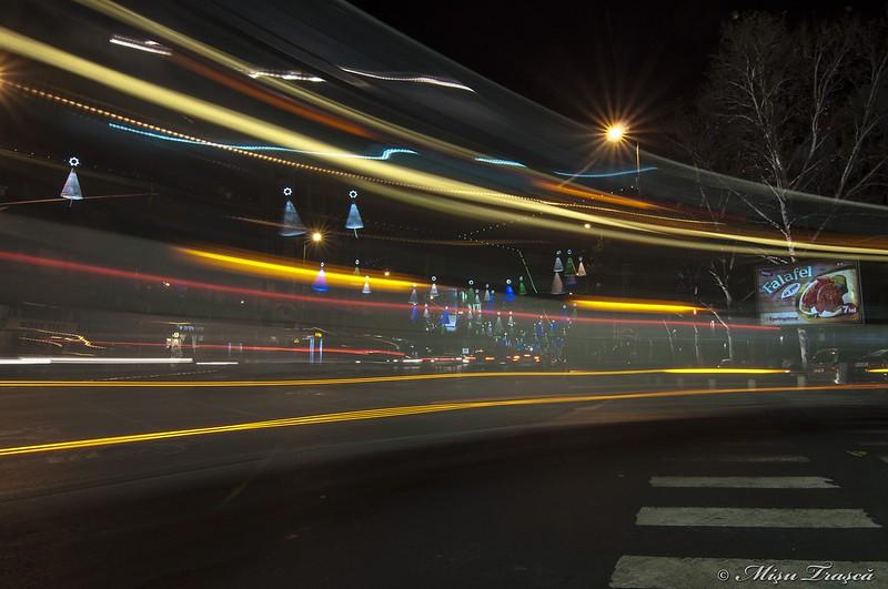luminițe prin autobuz