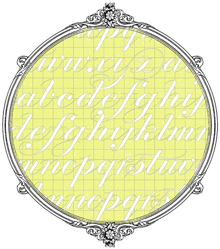 11 chartreuse GF typography script -  free printable paper SAMPLE