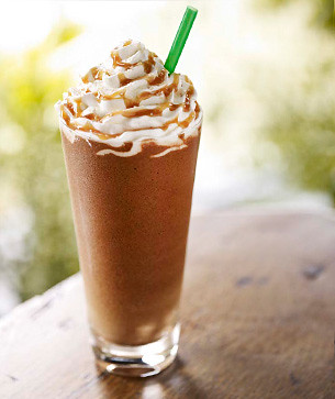 salted caramel frappuccino from starbucks