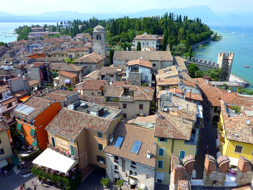 Panorama of the historical centre of Sirmione in Lake Garda