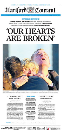 Front Page of Hartford Courant