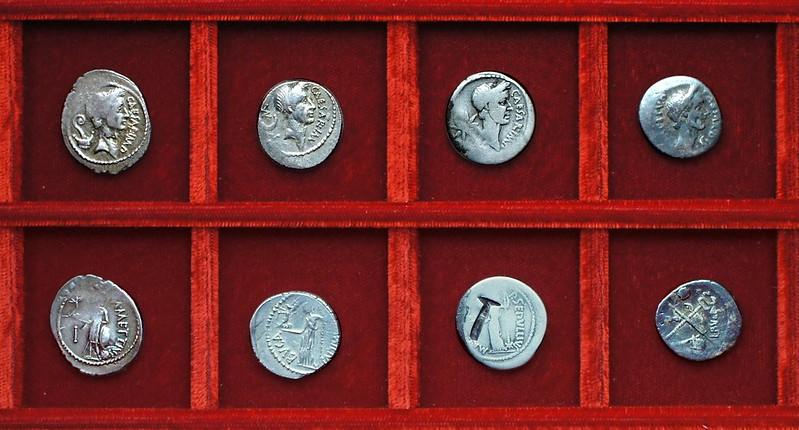 RRC 480-03,4,5,6 CAESAR IMP, DICT PERPETVO, METTIVS, BVCA, SEPVLLIVS MACER, Julius Caesar Mettia, Aemilia, Sepullia, Ahala collection Roman Republic