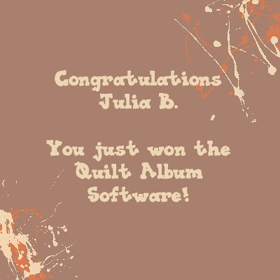 Winner of the Quilt Album Software