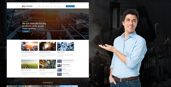 Manufacturing v1.1 - Factory & Industrial Business Theme