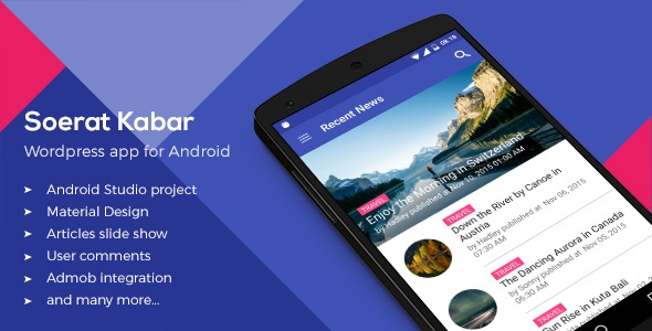 Soerat Kabar v2.0 – WordPress App for Android