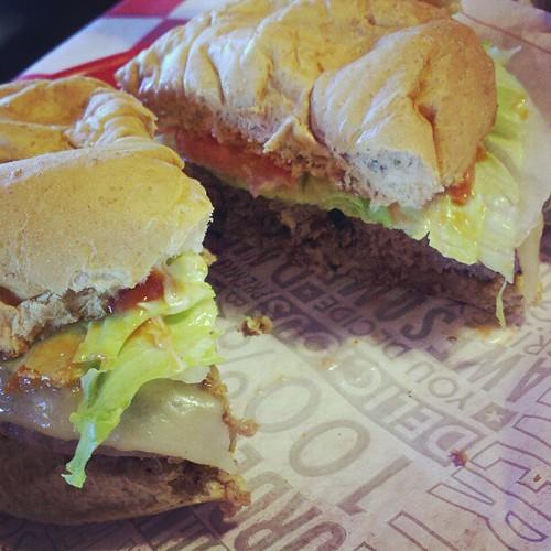 Elk burger.