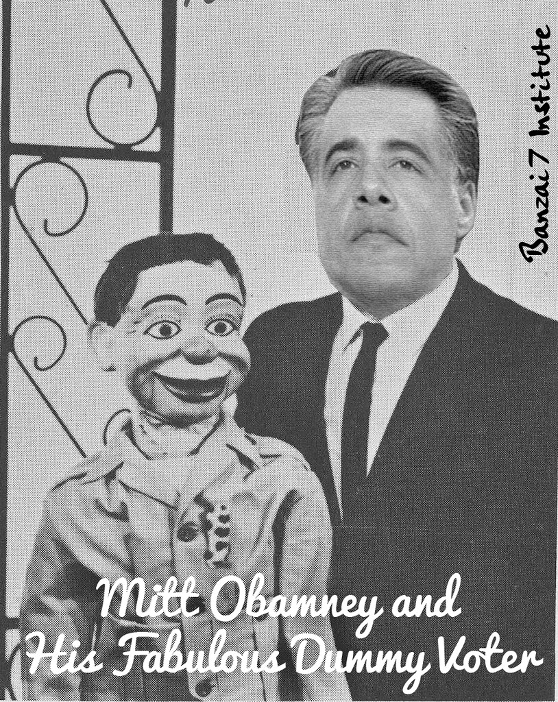 MITT OBAMNEY AND HIS DUMMY VOTER