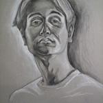 self portrait charcoals