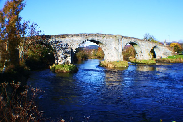 Stirling Bridge, close to site of famous 1297 battle