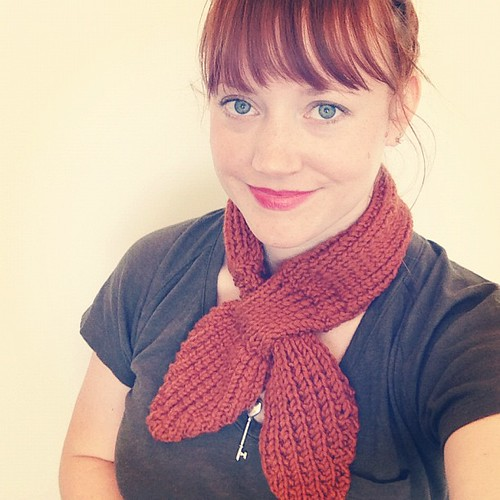 Anthro inspired scarflette that I finished knitting last night :) #knit #scarf
