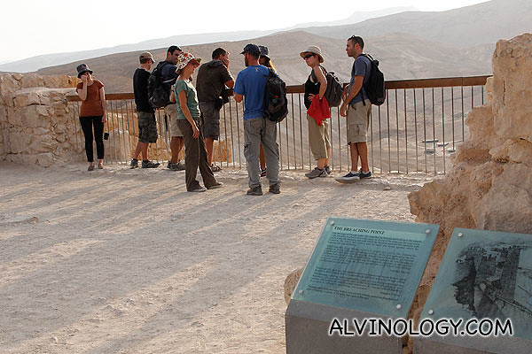The Breaching Point where the Jewish soldiers knew they lost the battle during the Siege of Masada