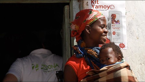 mother and child and poster