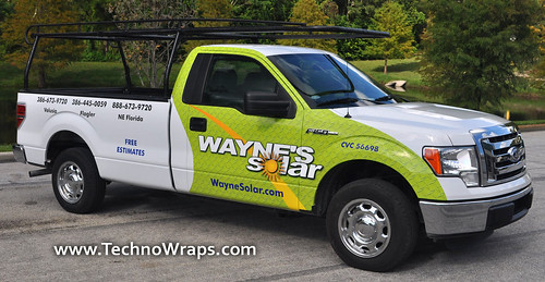 Partial pickup truck wrap in Orlando