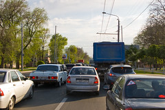 Rostov on Don - Là aussi ça bouchonne ! (y'a que deux voies normalement ^^)