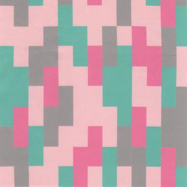 bricks - pink green