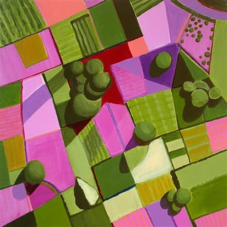 Toni Silber-Delerive Pink and Green Fields