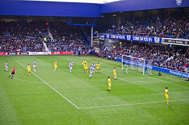 qpr takes on reading in the english premier league