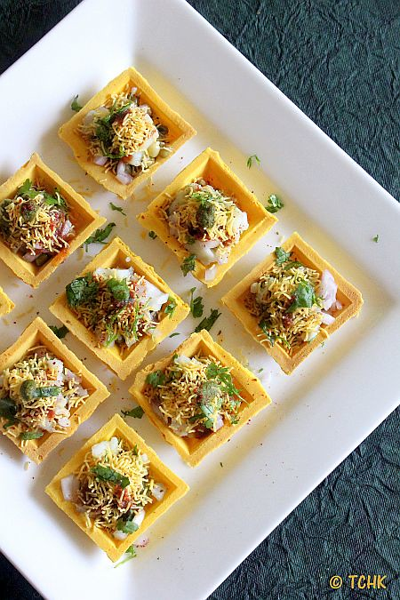 the chef and her kitchen canape sev puri fillings for