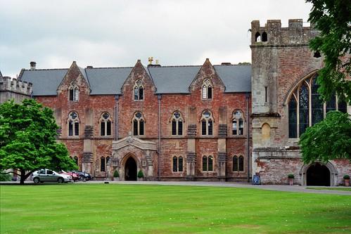 Palais épiscopal Bishop's Palace, Wells, Somerset, Angleterre, Royaume-Uni.