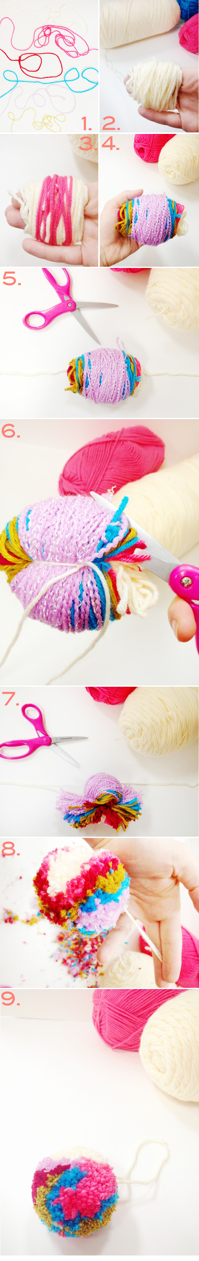 A-Lovely-Lark-DIY-Colorful-Yarn-Pom-Pom-Ornament