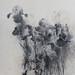 鳶尾花I.木炭、水彩、紙本.50x40cm.2009