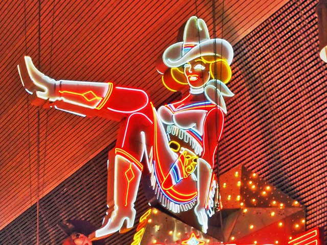 Cow Girl in Neon