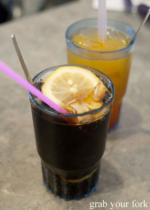 lemon cola at 375 congee noodle house, chatswood