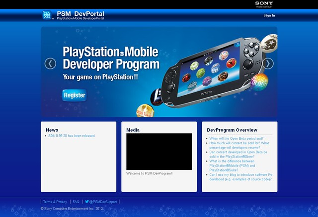 PlayStation Mobile Developer Portal
