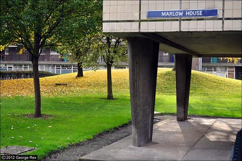 Hallfield / Marlow House columns
