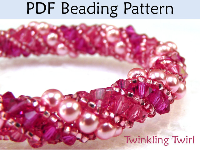 Russian Spiral Bead http://www.flickr.com/photos/simplebeadpatterns/8204512782/