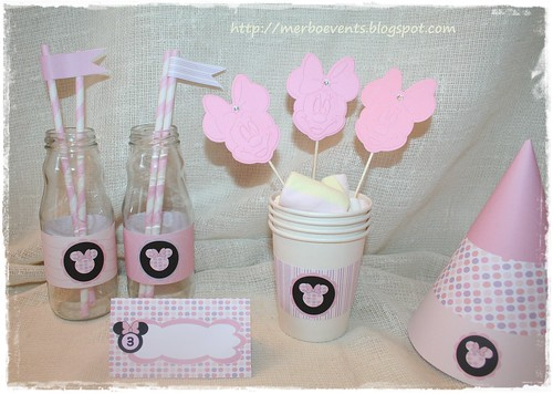 Kit Imprimible Minnie Flags. Merbo Events