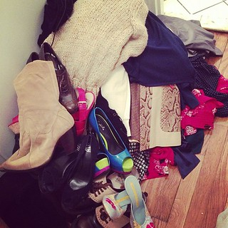 Off to a family with three girls who lost all their clothes. If you need help matching your donations to real people, hit me up. #sandy
