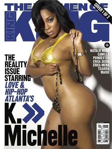 K. Michelle KING MAGAZINE COVER AND PICTURES . love & Hip Hop atlanta star k michelle in the december 2012 issue of king magazine