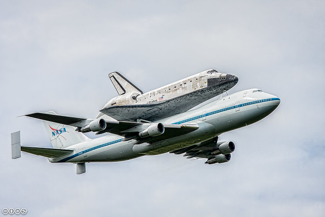OV103 and Shuttle Carrier Aircraft