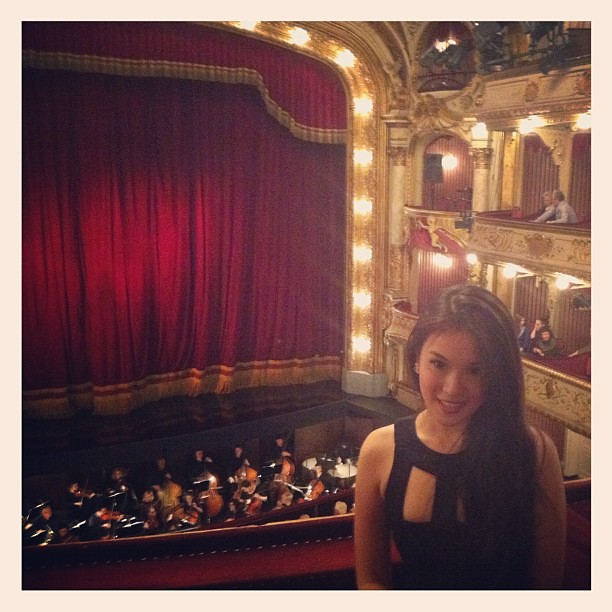 Happily sitting in a box waiting for Hamlet to start. ❤ #opera #art #travel #croatia #zagreb