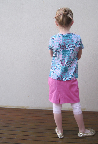 Hopscotch top and Sailboat skirt