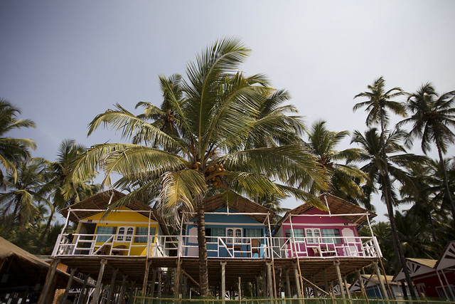 Colorful huts in Palolem