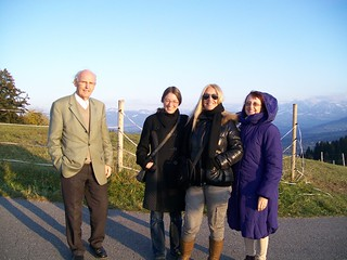 With Vassula, Hildegard, translatress Judith and driver Heinrich on the mountains above Bregenz