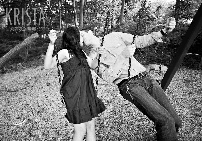 Backyard engagement session