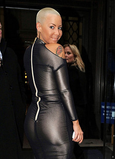 amber rose rocking a sexy tight black dress
