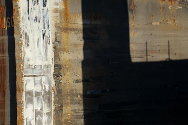Abstract image of a ship at Brooklyn navy Yard, Brooklyn, New York, USA